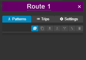 Route patterns tab