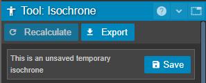 isochrone tool properties