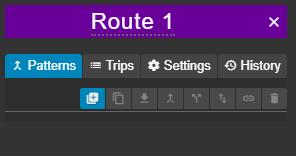 route settings