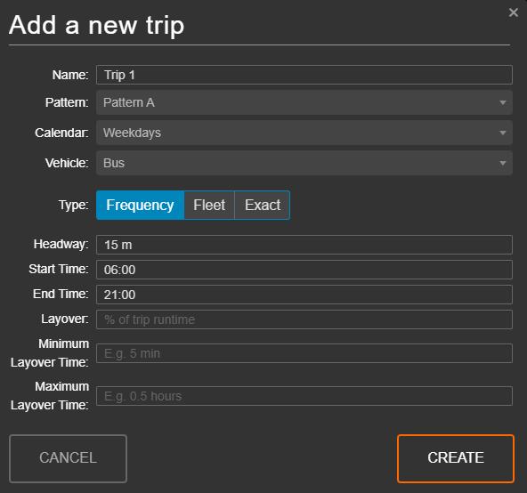 Add a new trip