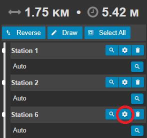 Station settings