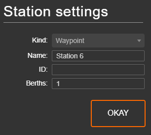 Changing a station to a waypoint